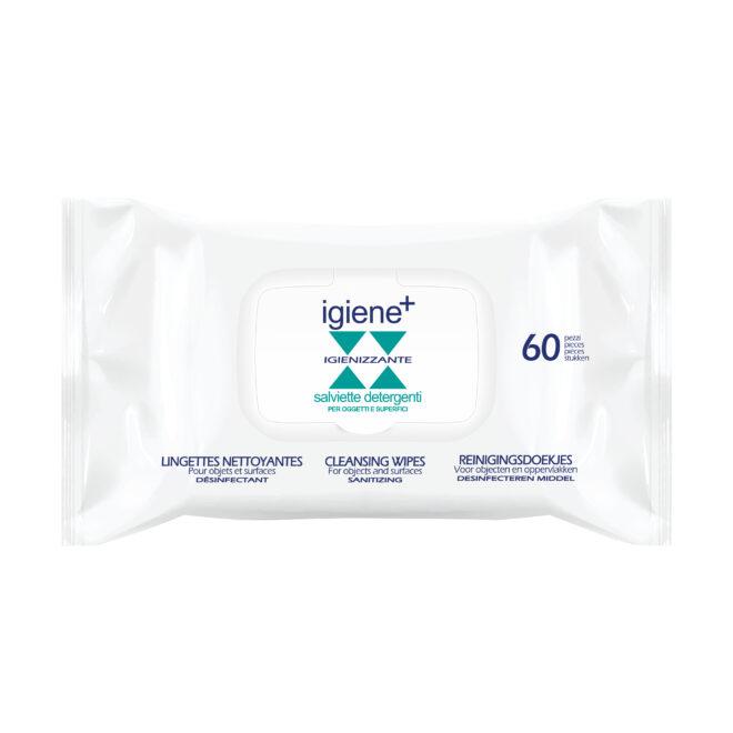 Salviette detergenti Igiene+ ad azione igienizzante